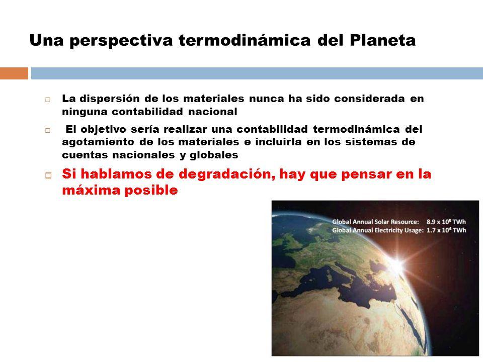 Una perspectiva termodinámica del Planeta