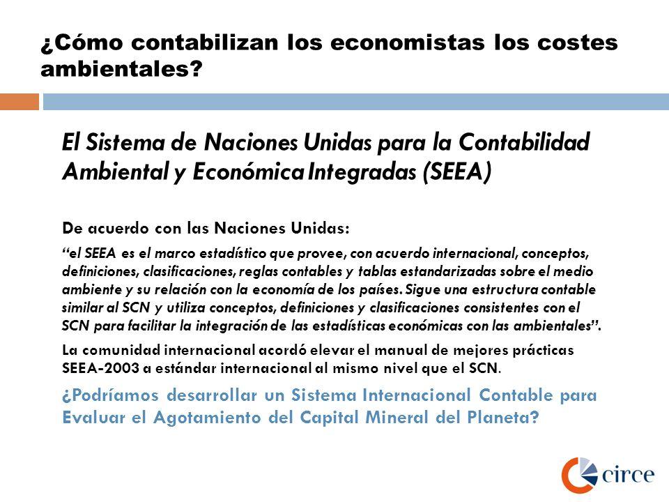 ¿Cómo contabilizan los economistas los costes ambientales