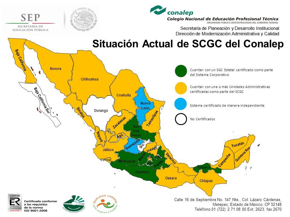 Situación Actual de SCGC del Conalep