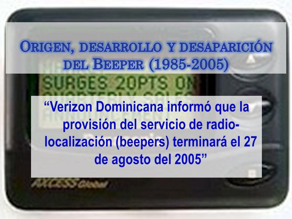 Origen, desarrollo y desaparición del Beeper (1985-2005)