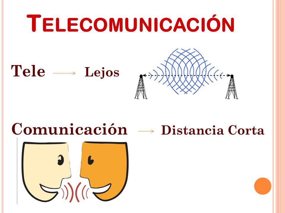 Telecomunicación Tele Lejos Comunicación Distancia Corta