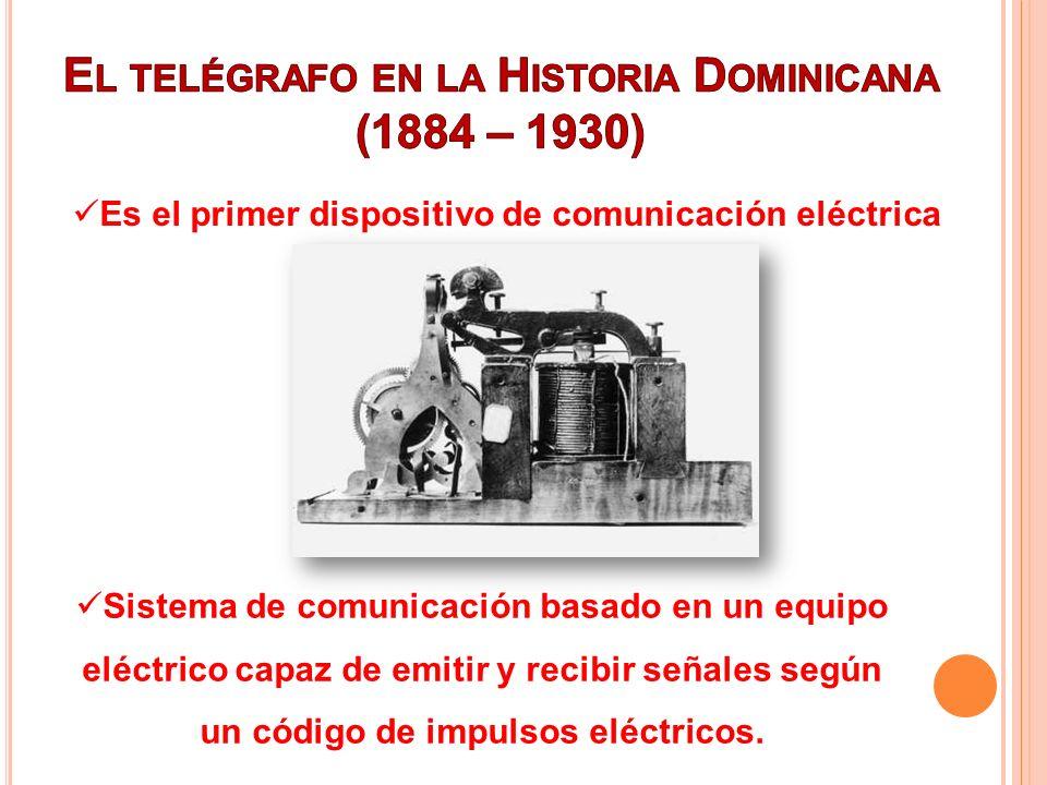 El telégrafo en la Historia Dominicana (1884 – 1930)