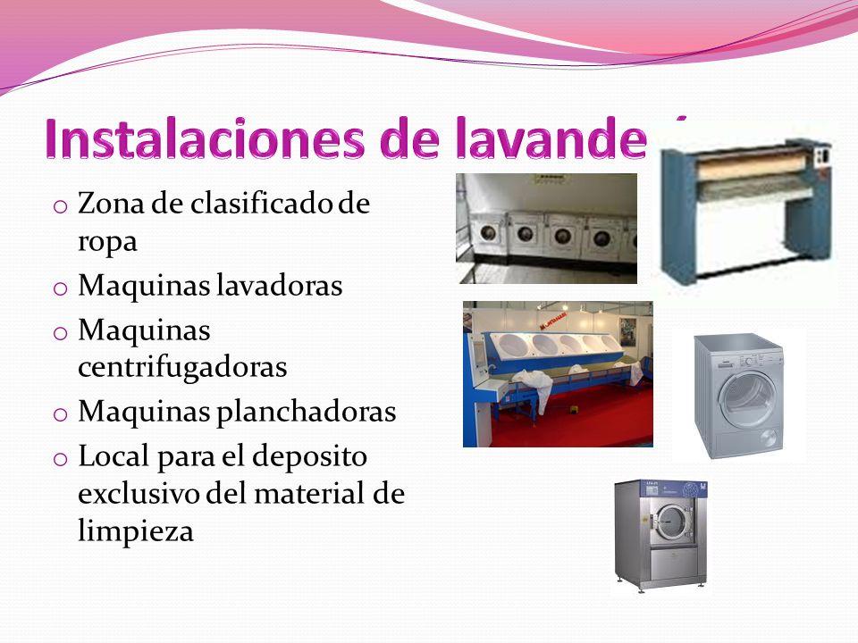 Instalaciones de lavandería