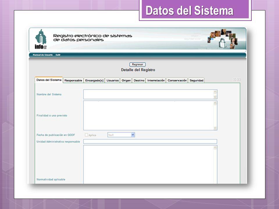 Datos del Sistema