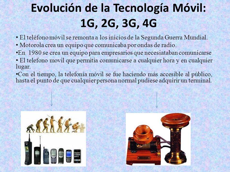 Evolución de la Tecnología Móvil: 1G, 2G, 3G, 4G