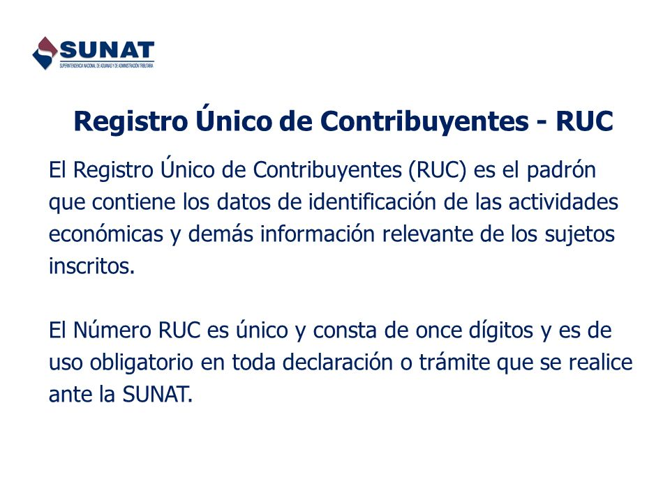 Registro Único de Contribuyentes - RUC