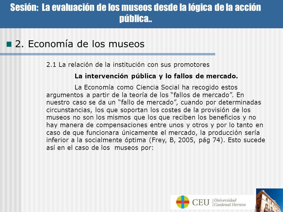Sesión: La evaluación de los museos desde la lógica de la acción pública..