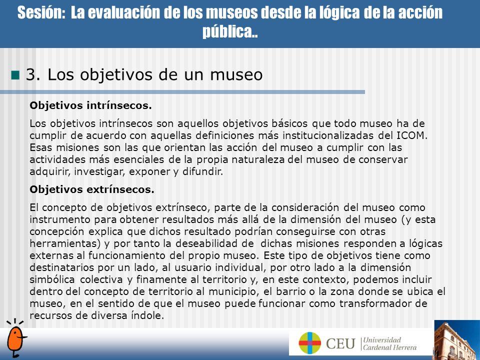 3. Los objetivos de un museo