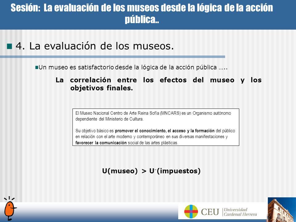 U(museo) > U-(impuestos)