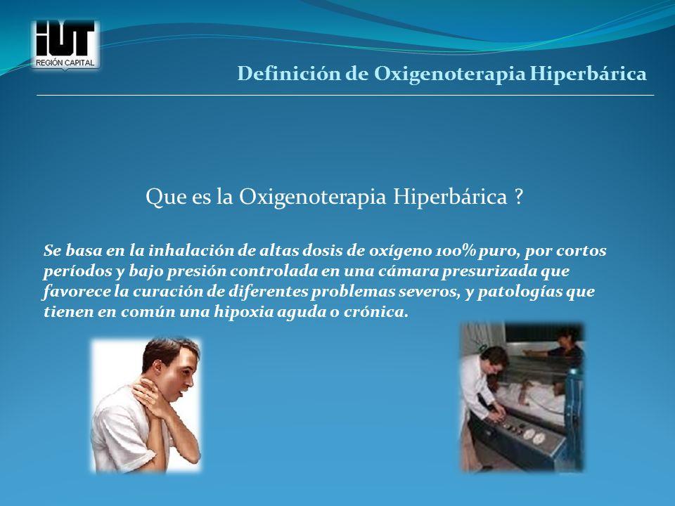 Que es la Oxigenoterapia Hiperbárica