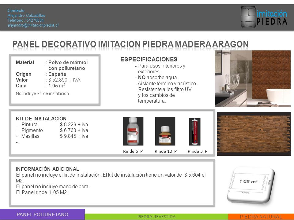 Panel decorativo imitacion piedra madera aragon ppt - Panel decorativo piedra ...