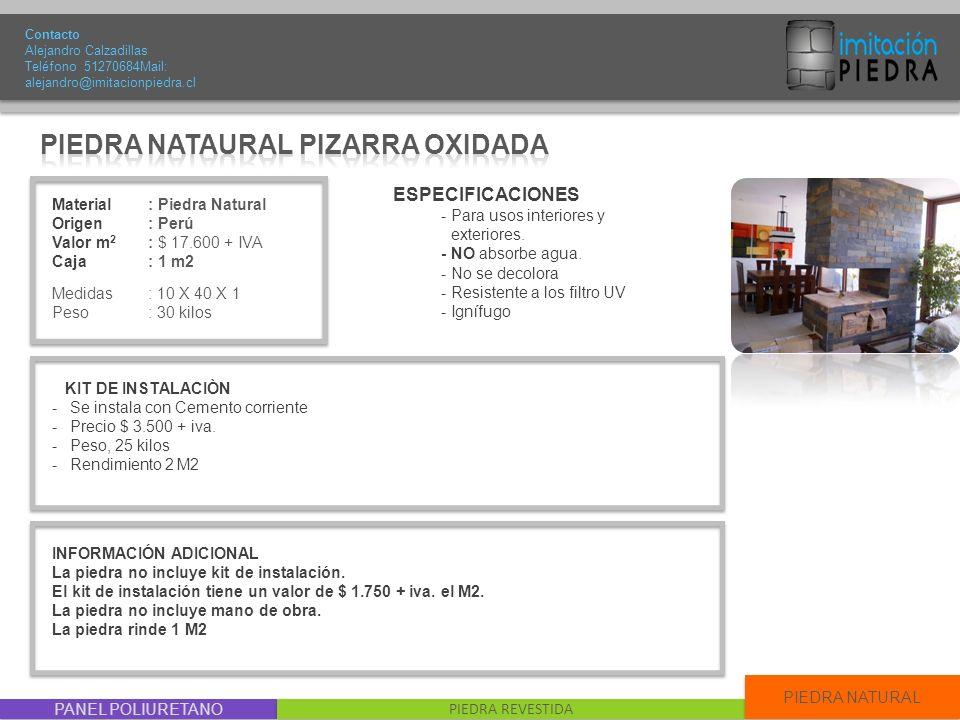 PIEDRA NATAURAL PIZARRA OXIDADA