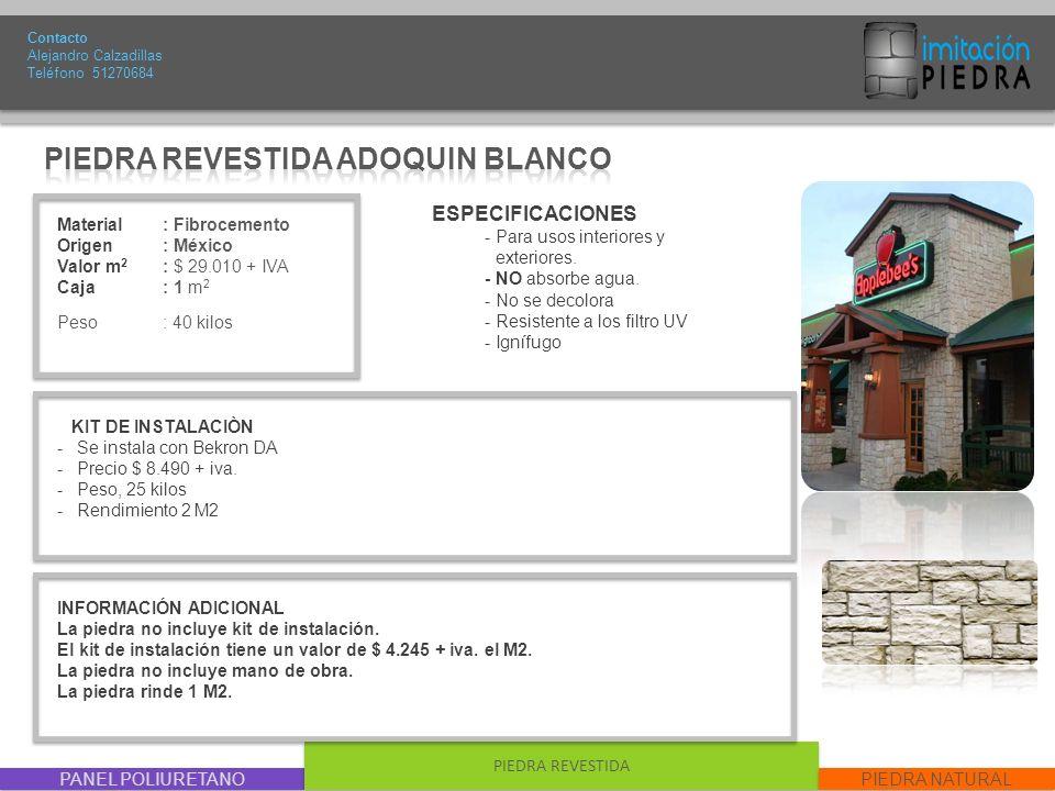 PIEDRA REVESTIDA ADOQUIN BLANCO