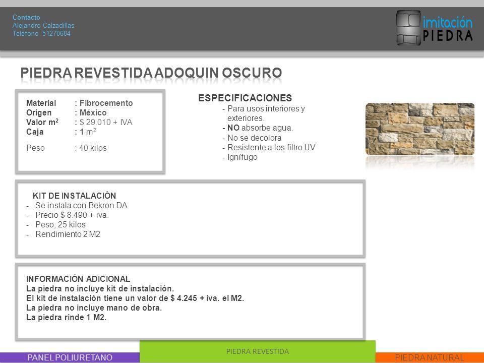 PIEDRA REVESTIDA ADOQUIN OSCURO
