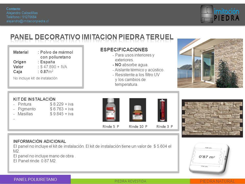 PANEL DECORATIVO IMITACION PIEDRA TERUEL