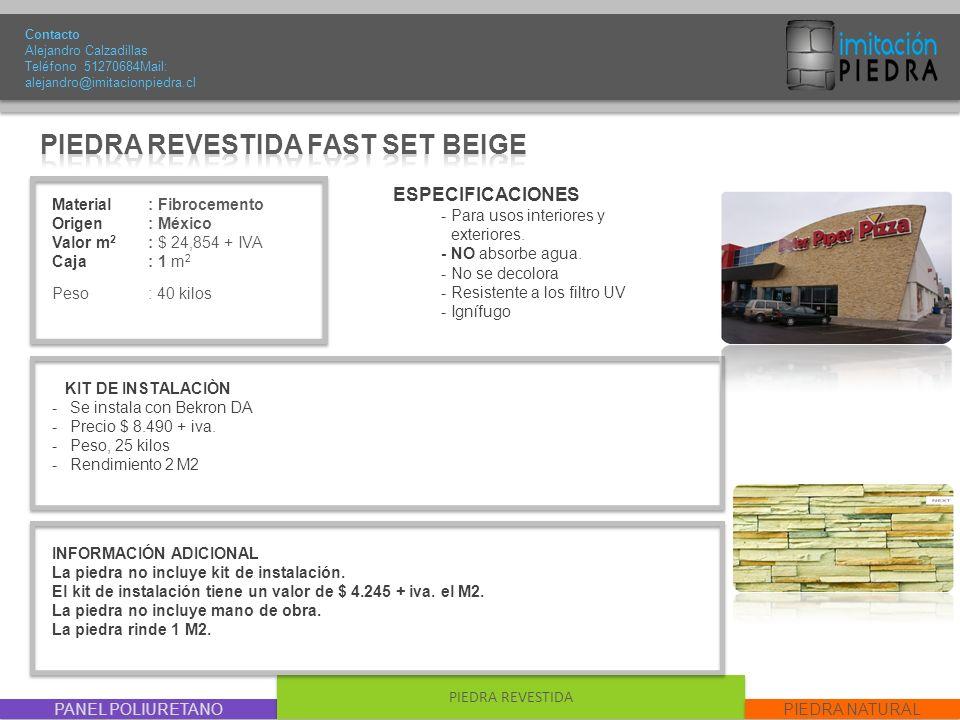 PIEDRA REVESTIDA FAST SET BEIGE