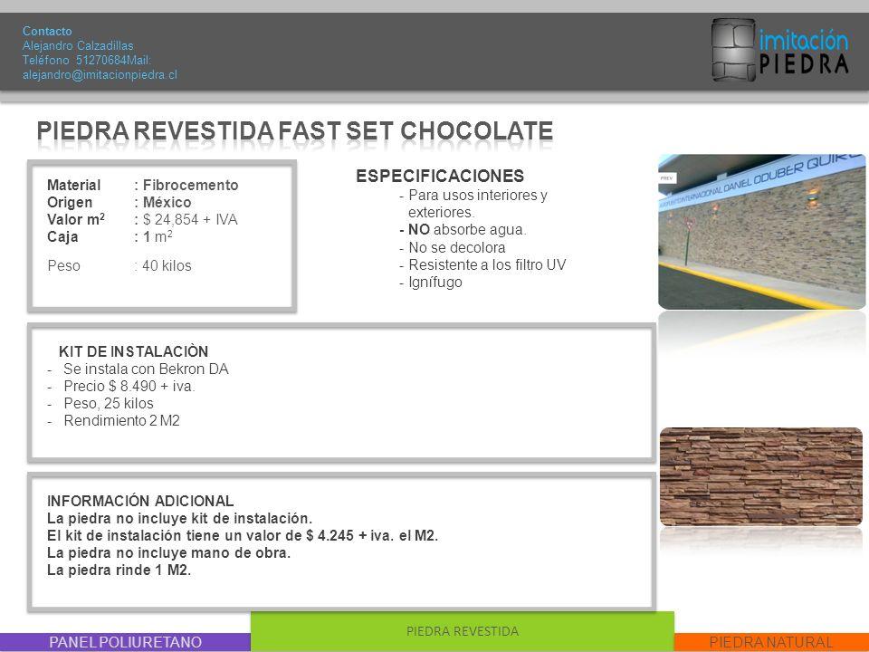 PIEDRA REVESTIDA FAST SET CHOCOLATE