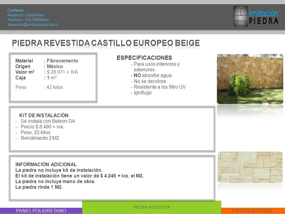 PIEDRA REVESTIDA CASTILLO EUROPEO BEIGE