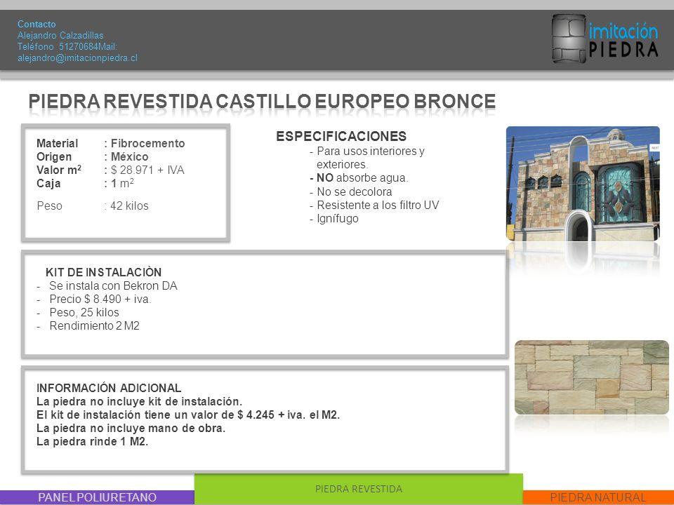 PIEDRA REVESTIDA CASTILLO EUROPEO BRONCE