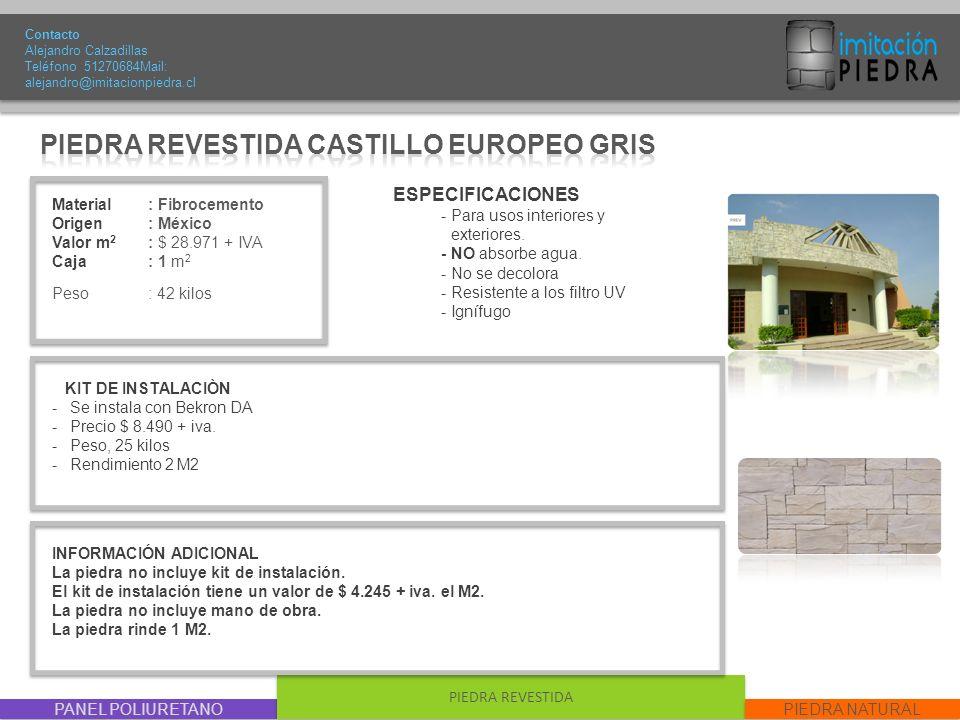PIEDRA REVESTIDA CASTILLO EUROPEO GRIS