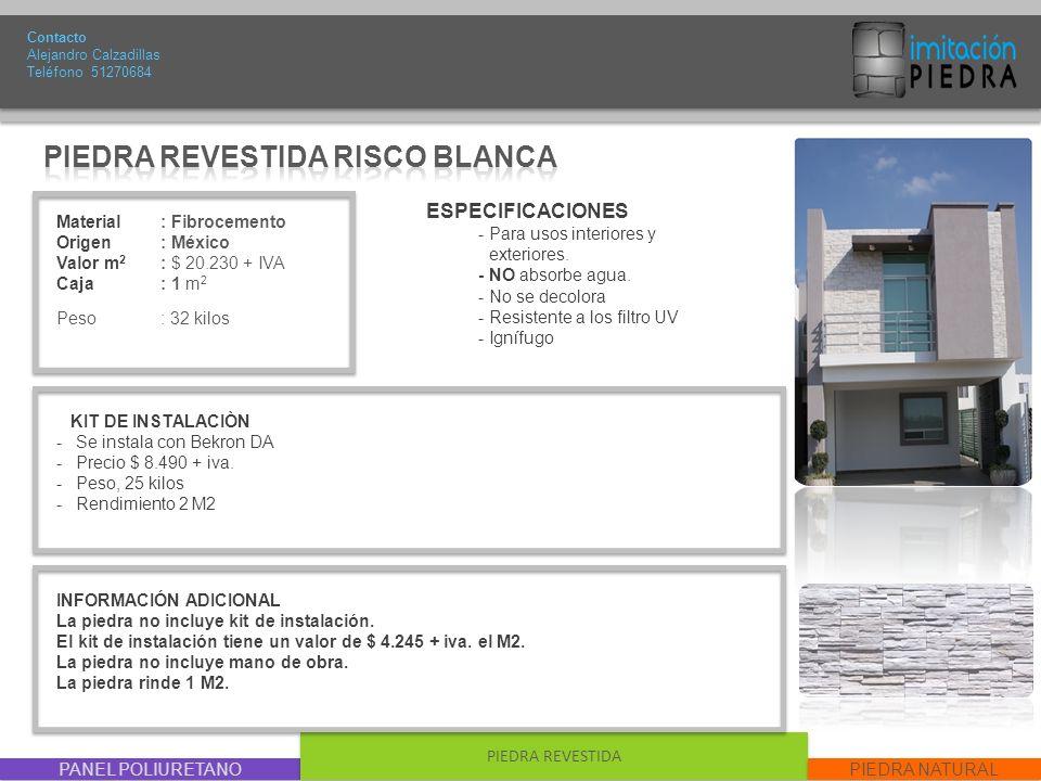 PIEDRA REVESTIDA RISCO BLANCA