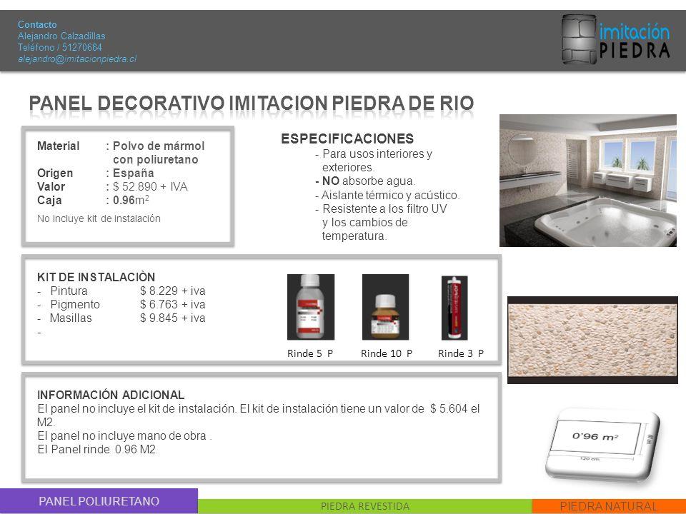 PANEL DECORATIVO IMITACION PIEDRA DE RIO