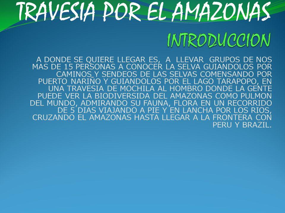 TRAVESIA POR EL AMAZONAS