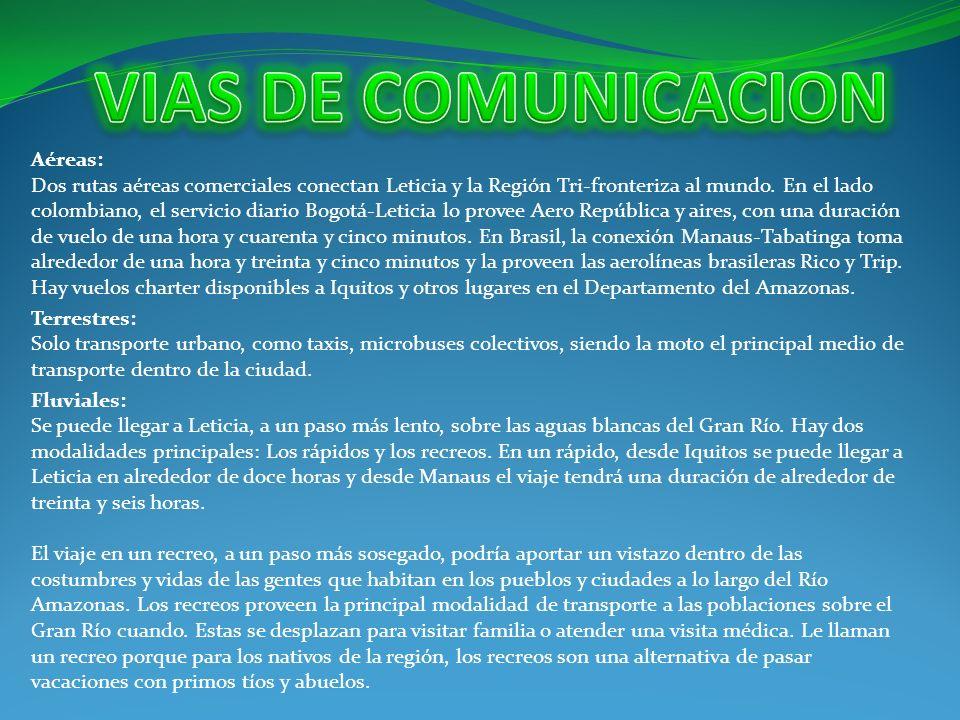 VIAS DE COMUNICACION