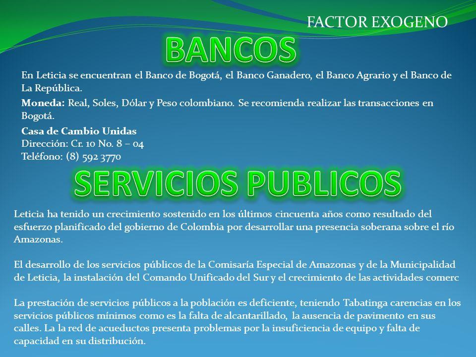 BANCOS SERVICIOS PUBLICOS