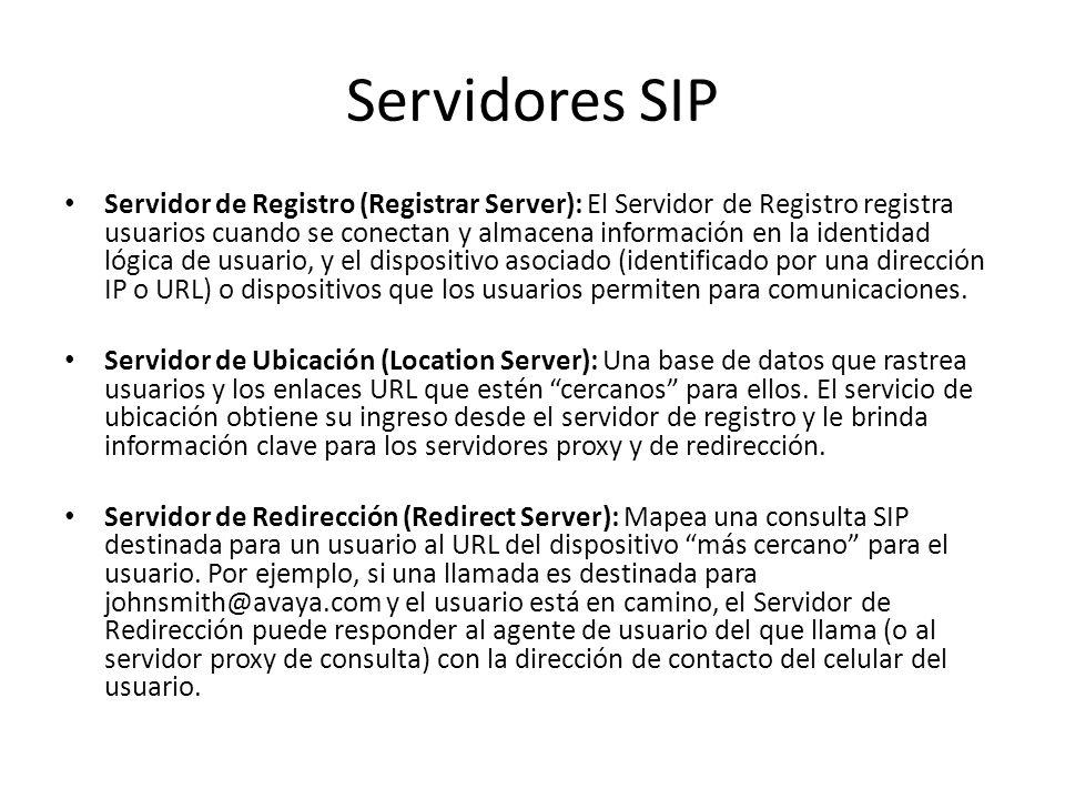Servidores SIP