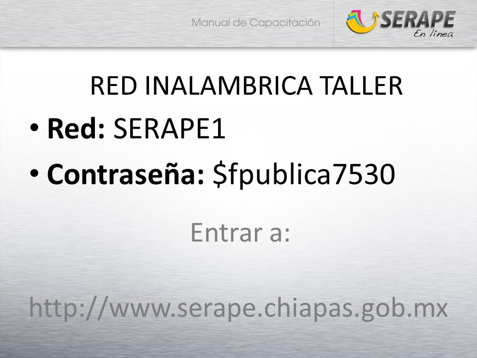 RED INALAMBRICA TALLER