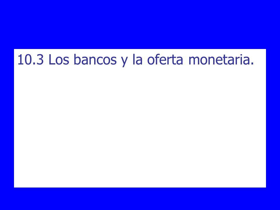 10.3 Los bancos y la oferta monetaria.