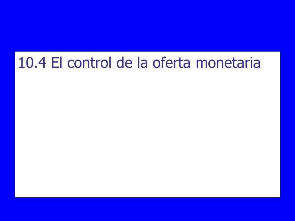 10.4 El control de la oferta monetaria