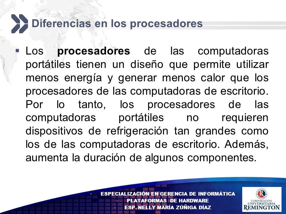 Diferencias en los procesadores