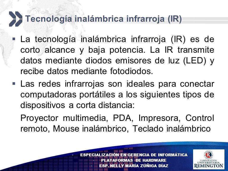 Tecnología inalámbrica infrarroja (IR)