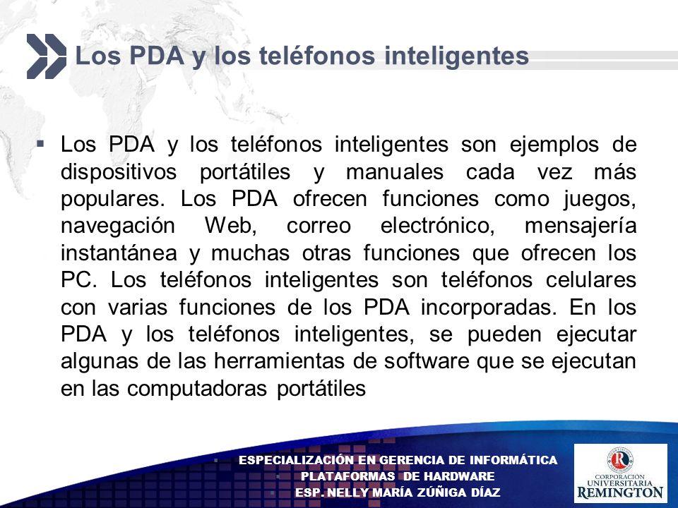 Los PDA y los teléfonos inteligentes