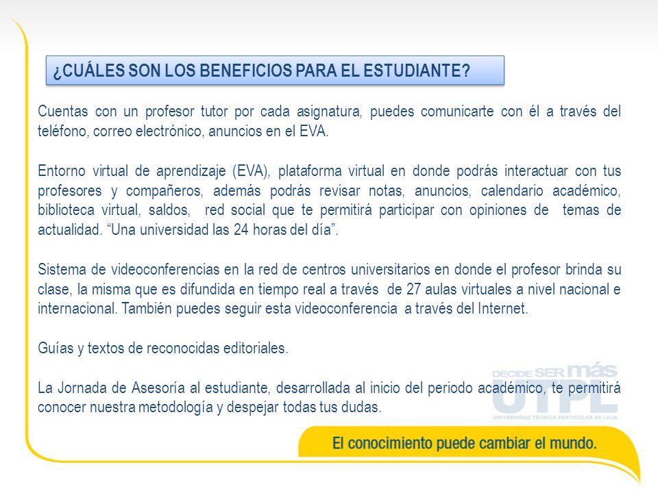 ¿CUÁLES SON LOS BENEFICIOS PARA EL ESTUDIANTE