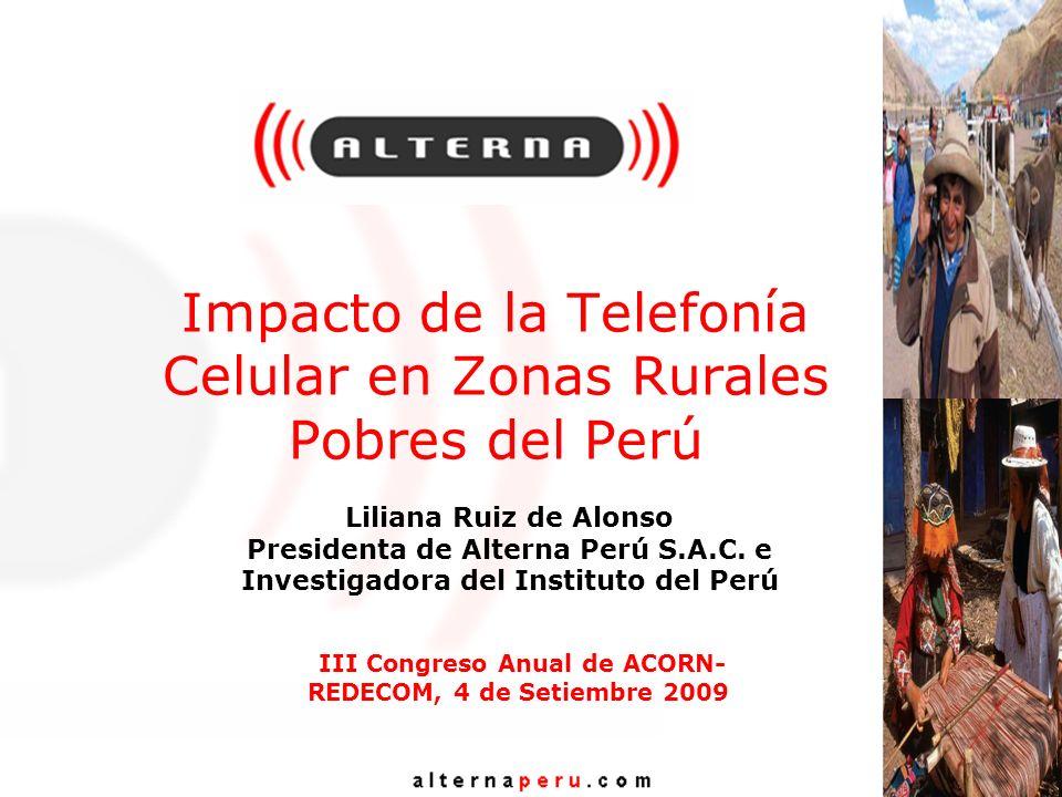 Impacto de la Telefonía Celular en Zonas Rurales Pobres del Perú