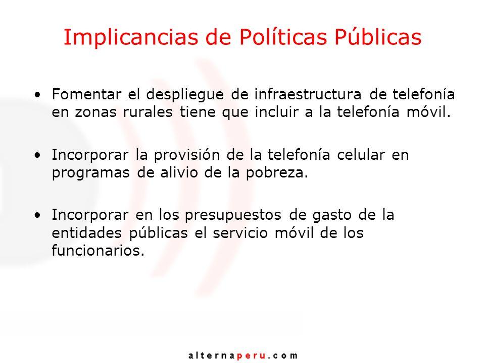 Implicancias de Políticas Públicas