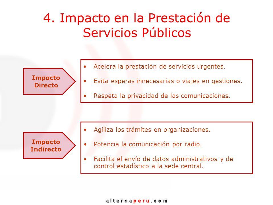 4. Impacto en la Prestación de Servicios Públicos