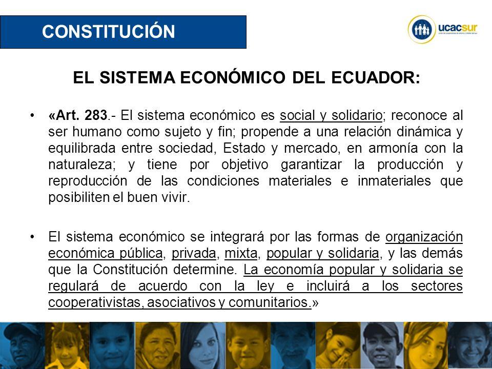 EL SISTEMA ECONÓMICO DEL ECUADOR: