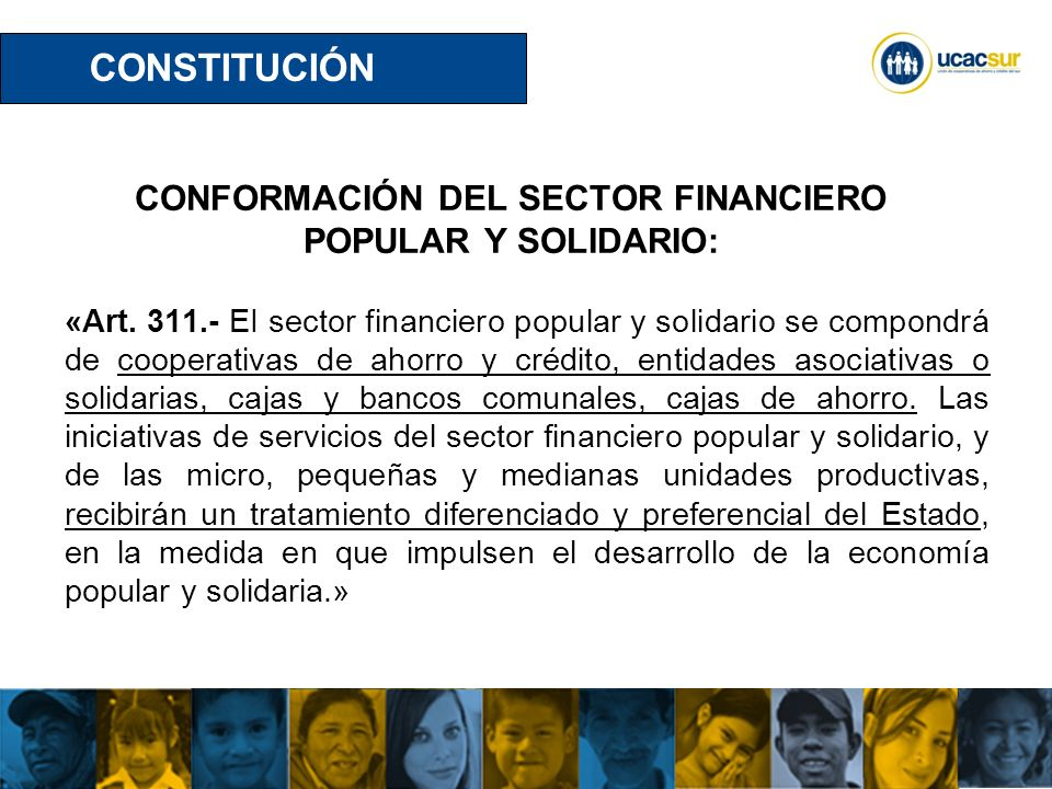CONFORMACIÓN DEL SECTOR FINANCIERO POPULAR Y SOLIDARIO: