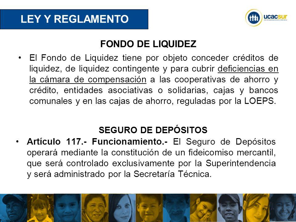 LEY Y REGLAMENTO FONDO DE LIQUIDEZ