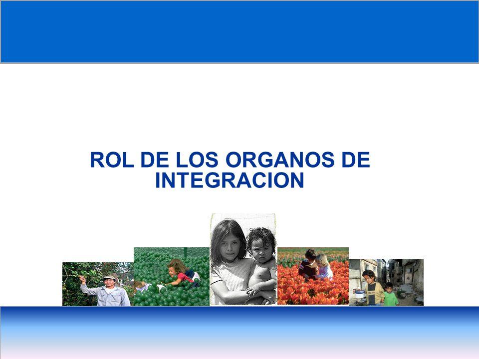 ROL DE LOS ORGANOS DE INTEGRACION
