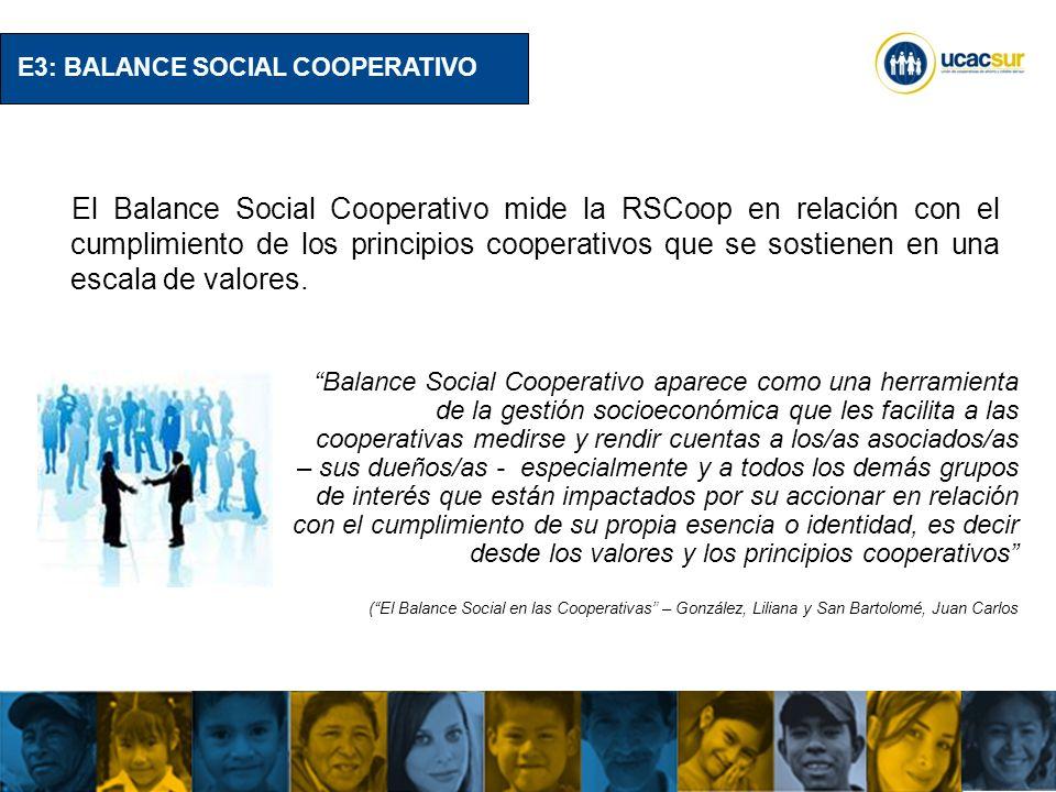 E3: BALANCE SOCIAL COOPERATIVO