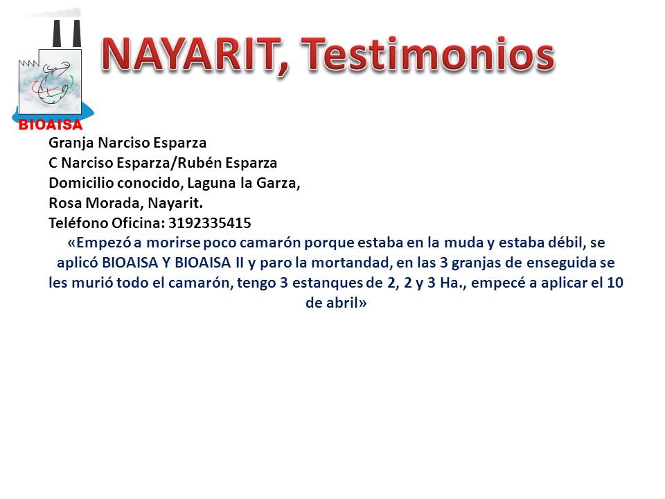 NAYARIT, Testimonios Granja Narciso Esparza
