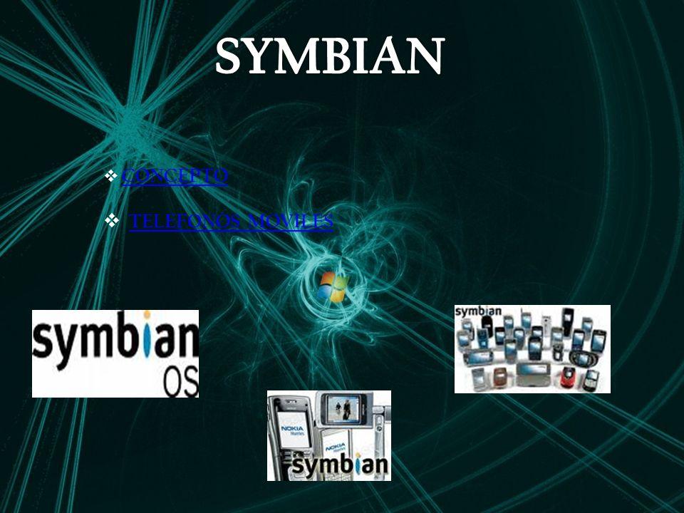 SYMBIAN CONCEPTO TELEFONOS MOVILES