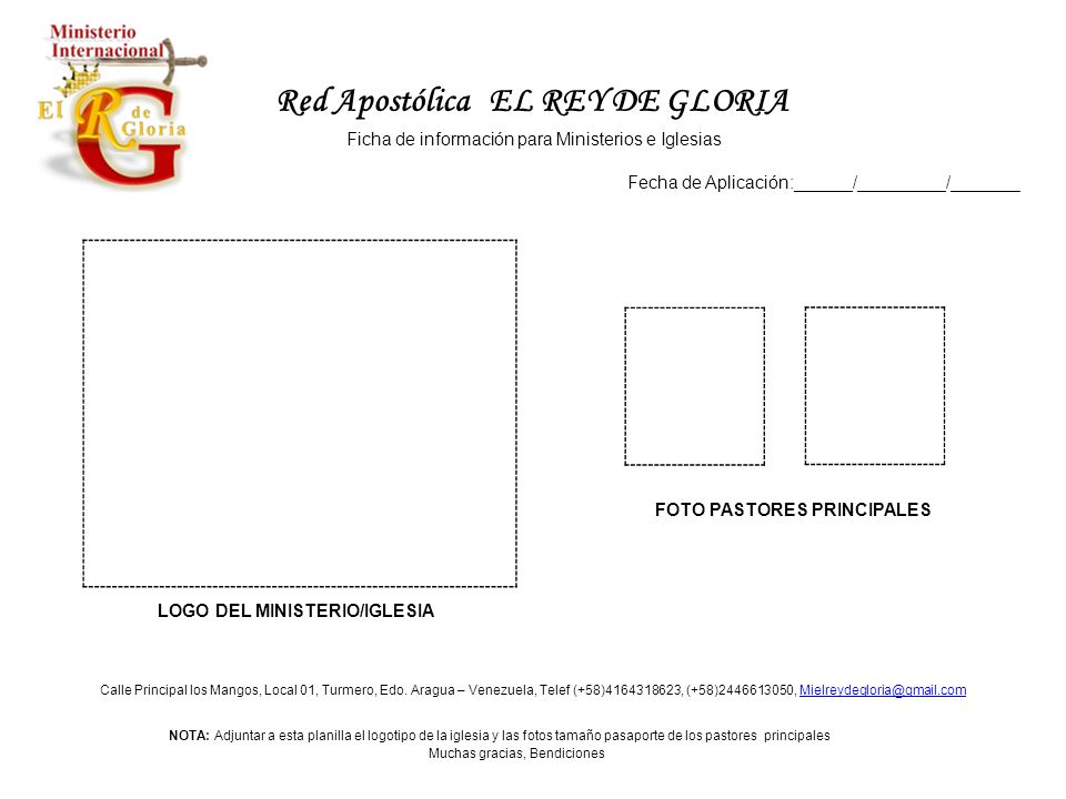 Red Apostólica EL REY DE GLORIA