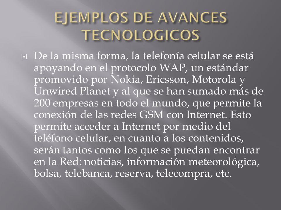 EJEMPLOS DE AVANCES TECNOLOGICOS