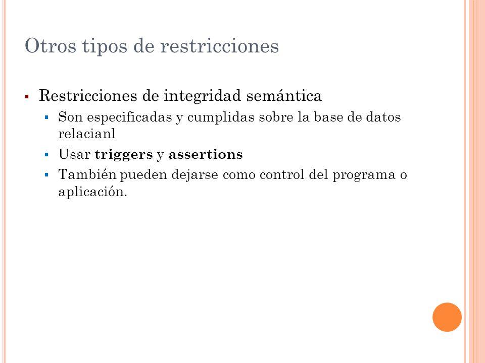Otros tipos de restricciones